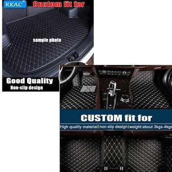 RKCA Custom car floor mats AND TRUNK MATS for Lexus LX 470 supports car interio car accessorie car styling floor mat