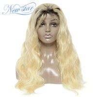 New star T1b/613 Синтетические волосы на кружеве парик объемная волна Связки и 4x4 застежка парик Европейский человеческих волос черный корень наст