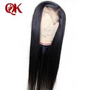 Image 2 - QueenKing שיער שיער טבעי פאות PrePlucked עבור שחור נשים רמי ברזילאי ישר תחרה מול פאה עם בייבי שיער מולבן קשרים