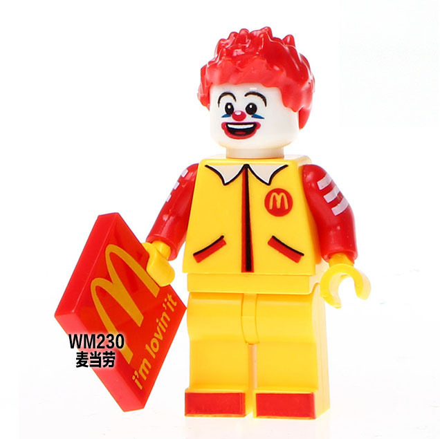 Drop Shipping Single Sale WM230 Ronald McDonald Super Heroes Building Blocks Action Figures Kids Gifts Toys single sale pirate suit batman bruce wayne classic tv batcave super heroes minifigures model building blocks kids toys gifts