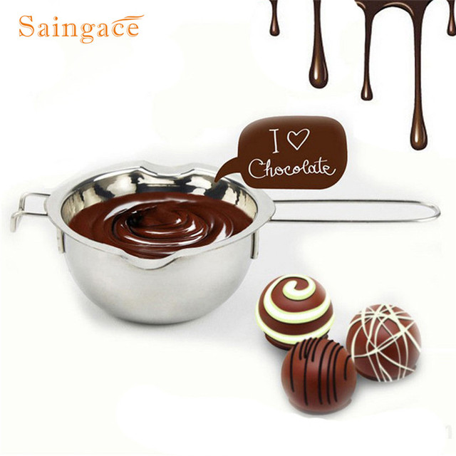 Stainless Steel Double Boiler Universal Masukkan Fondant Karamel Cokelat Meleleh Mangkuk Butter Pot Keju Pan Pemanasan Baking Alat U70