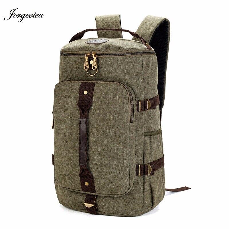 1c49b08990448 Jorgeolea السفر حقيبة ظهر بسعة كبيرة الذكور الأمتعة حقيبة كتف دفتر  Backpaking الرجال الوظائف تنوعا حقيبة