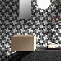 Banda in bianco e nero laminato di vetro di cristallo mosaico di piastrelle entranceway tv wall sticker paper doccia bagno cucina soggiorno