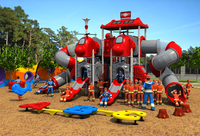 CE,ISO,TUV outdoor playground exported to Canada garden slide fire control type children play equipment YLW OUT171034