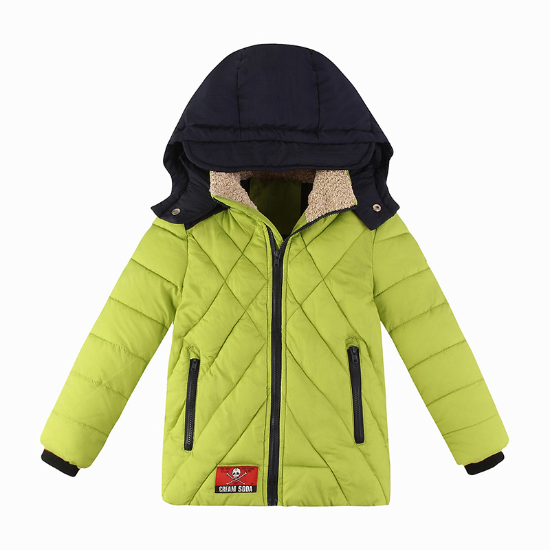 2016 Casual Children Winter Jackets For Boys Girls Winter Down Jackets Cotton Coats Thick Outerwear With Hooded Children's Coat casual 2016 winter jacket for boys warm jackets coats outerwears thick hooded down cotton jackets for children boy winter parkas