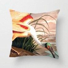 Audubon Roseate Spoonbill pájaro estampado vintage cojín decorativo de boda funda de almohada personalizar regalo para la funda de almohada del asiento del coche