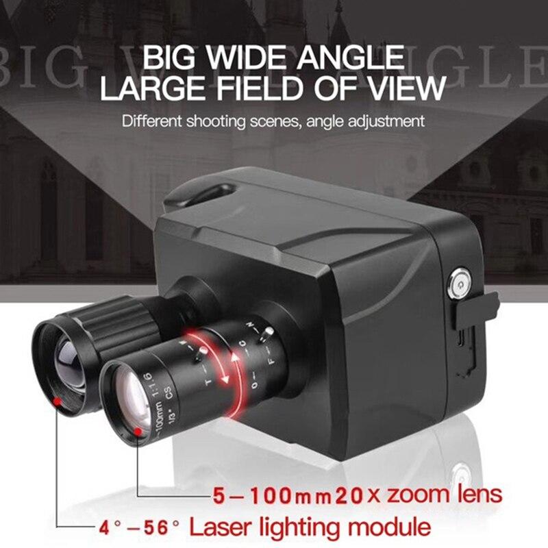 Nueva llegada HD Digital visión nocturna alcance 20X Zoom óptico LCD inteligente Pantalla de 5 pulgadas láser infrarrojo binoculares cámara para caza
