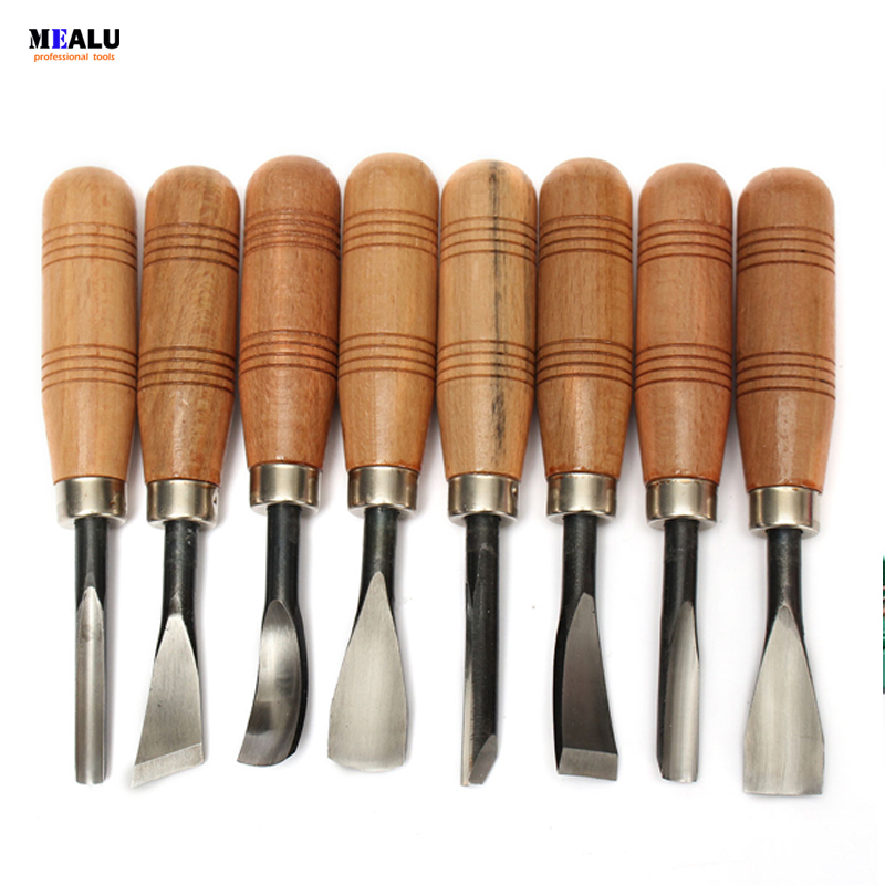 8 Pcs Woodpecker Graver Woodcarving Knife Chisel Wood Carving Hand Tool Hand Tools Leather Hand Tools
