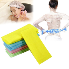 New 1pcs  Nylon Exfoliating Bath Shower Body Washing Cleaning Scrubbing Towel Scrubbers Random Color Body Cleaning Towel Tool