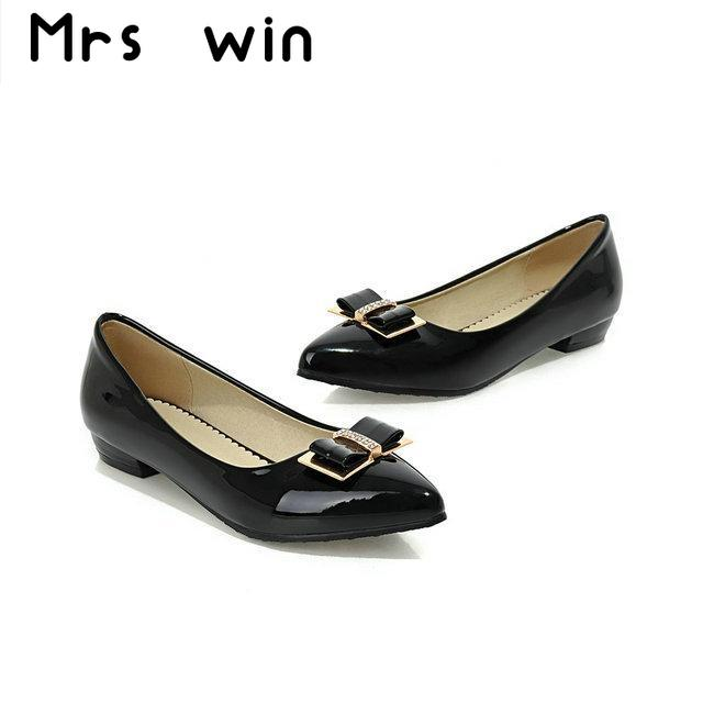 New spring and autumn New Elegant Bow Flat Shoes large size 34-48 original intention elegant spring autumn