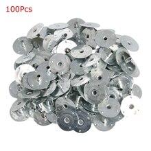 100/200 шт фитиль свечи металла сустейнер фитиль вкладки серебристого цвета для изготовления свечей подарок 12,5*2,5 мм