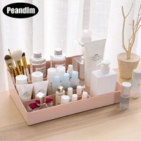 PEANDIM 5 Grids Korean Style Makeup Storage Box Nail Polish Brushes Cosmetic Organizer Creative Desktop Small