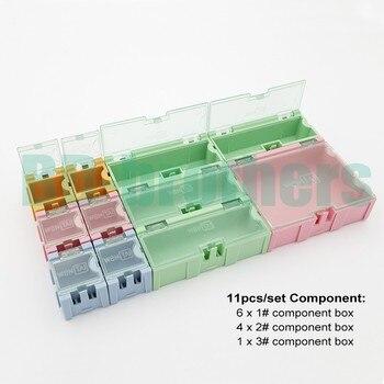 11pcs/set Component storage box IC Components Boxes SMT SMD Wen Tai (1# 2# 3#) Boxes Kit 20sets/lot