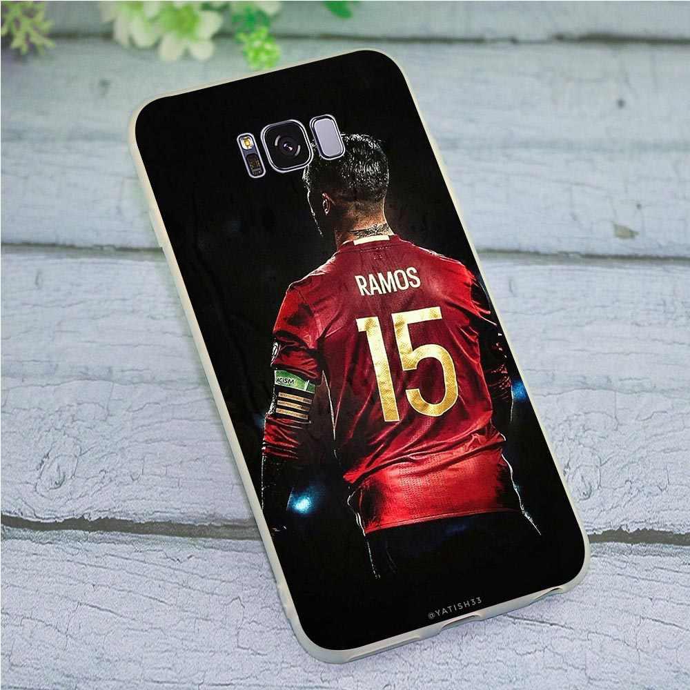 Cubierta suave de TPU para Samsung Galaxy A5 2017 funda de teléfono de sérgico Ramos SR4 para A6 A7 2018 A8 A9 A10 a20 A30 A40 A50 A70 J3 J5 J6 J7