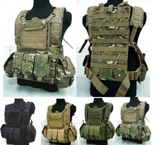 Military USMC Tactical Combat Molle RRV Chest Rig Paintball Harness Airsoft Vest W/ Canteen Hydration Rifle Mag Pouch Multicam