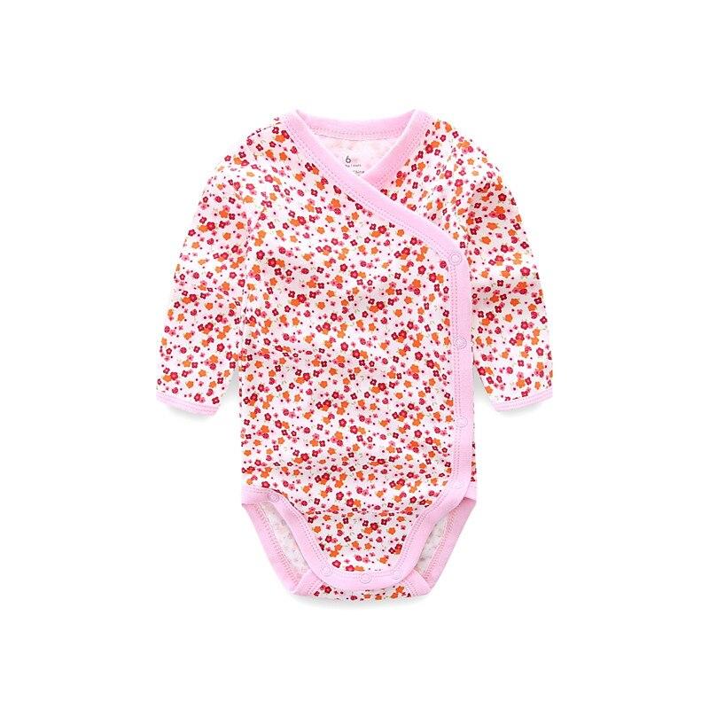 Улыбающийся малыш 5 шт./лот одежда с длинным рукавом; Детский комбинезончик из мягкого хлопка, модная одежда для детей, детская одежда с принтом в виде Одежда для новорожденных мальчиков и девочек 4
