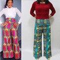 2016 súper cera africana de impresión pantalones pantalones de impresión africano ankara con los bolsillos de la fábrica de ropa de china