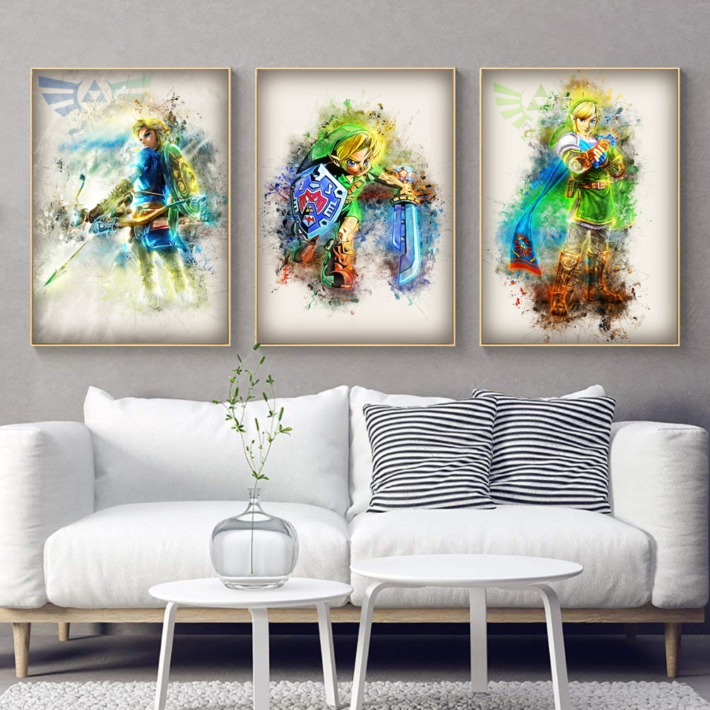 Zelda Watercolor Art Canvas Poster