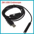 2 m de Cabo À Prova D' Água 10mm Lens Mini Handheld USB Inspeção Endoscópio Camera Endoscópio Tubo Âmbito Snake 4 LEDs