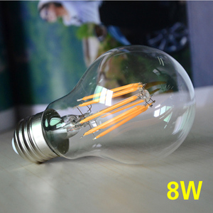 Image 2 - Dimmable 8W LED Filament Lamp Bulb E27 Edison Incandescent Light Bulbs 220v COB Bombilla Christmas Lights for Home Decoration