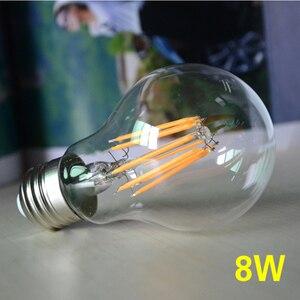 Image 2 - Dimmbare 8W LED Filament Lampe Birne E27 Edison Glühlampen 220v COB Bombilla Weihnachten Lichter für Hause dekoration