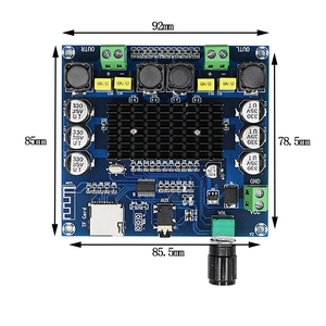 Image 4 - TDA7498 Bluetooth 5.0 Bordo Dellamplificatore di Potenza Digitale Esperienza HD carta di TF di Sostegno AUX Dual Channel 100W * 2 Audio amplificatore Stereo