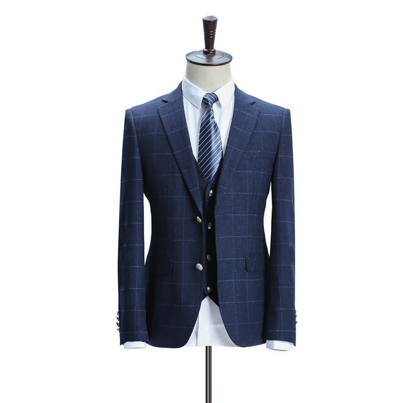 Automne Affaires Fit Bal Robe Blue Mariée Casual Costume 2018 Chanteur De Slim veste Marié Gilet Parti Hommes Printemps Pantalon Mâle P6yT7z8
