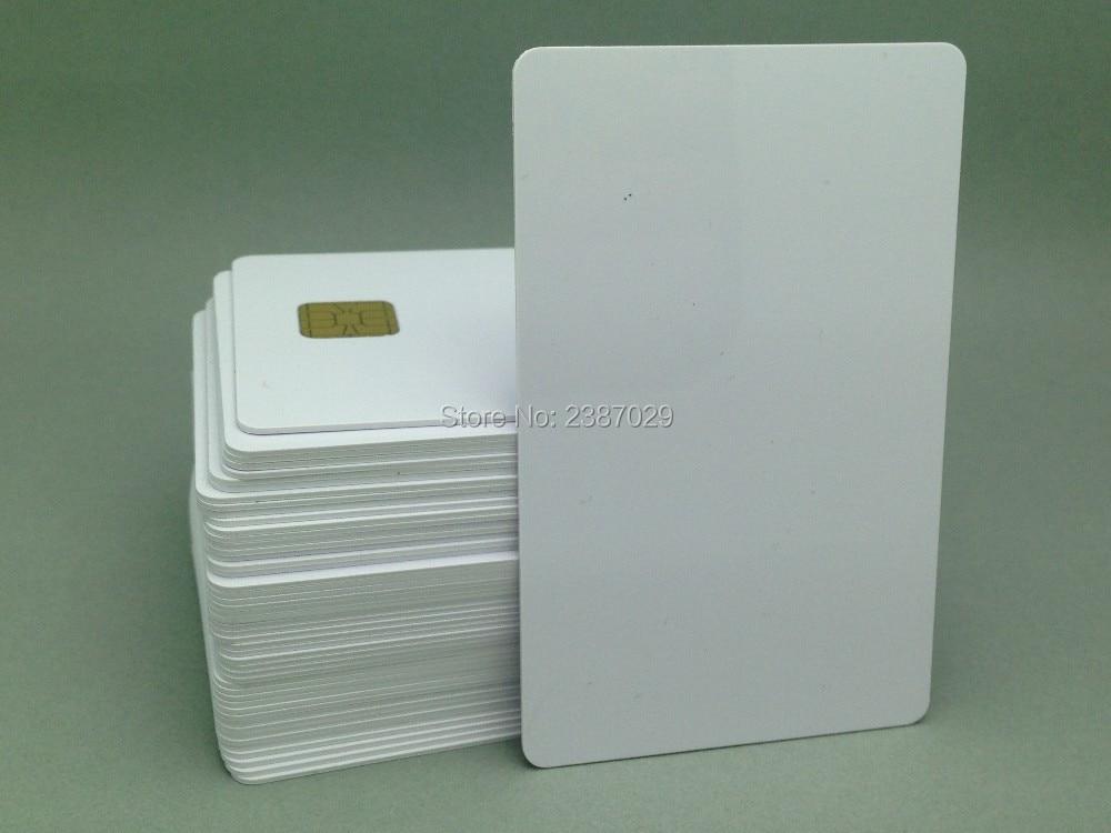 ISO7816 SLE4442 RFID Contact IC Smart Card CR80 Standard Size Proximitry Blank Chip Card 200pcs/lot бесплатная доставка интегральные схемы типов cs5124xd8 ic reg ctrlr flybk iso pwm 8 soic 5124 cs5124 3 шт