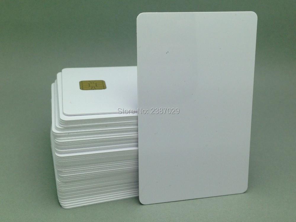 ISO7816 SLE4442 RFID Contact IC Smart Card CR80 Standard Size Proximitry Blank Chip Card 200pcs/lot