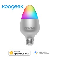 Koogeek 8W Color Changing Dimmable WiFi Smart LED Light Bulb for Alexa Apple HomeKit and the Google Assistant for 1111 Pre order