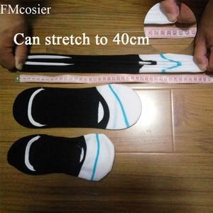 Image 4 - Calcetines tobilleros cortos de silicona antideslizantes, para hombre, talla grande, talla 43 45 46 47, 10 pares