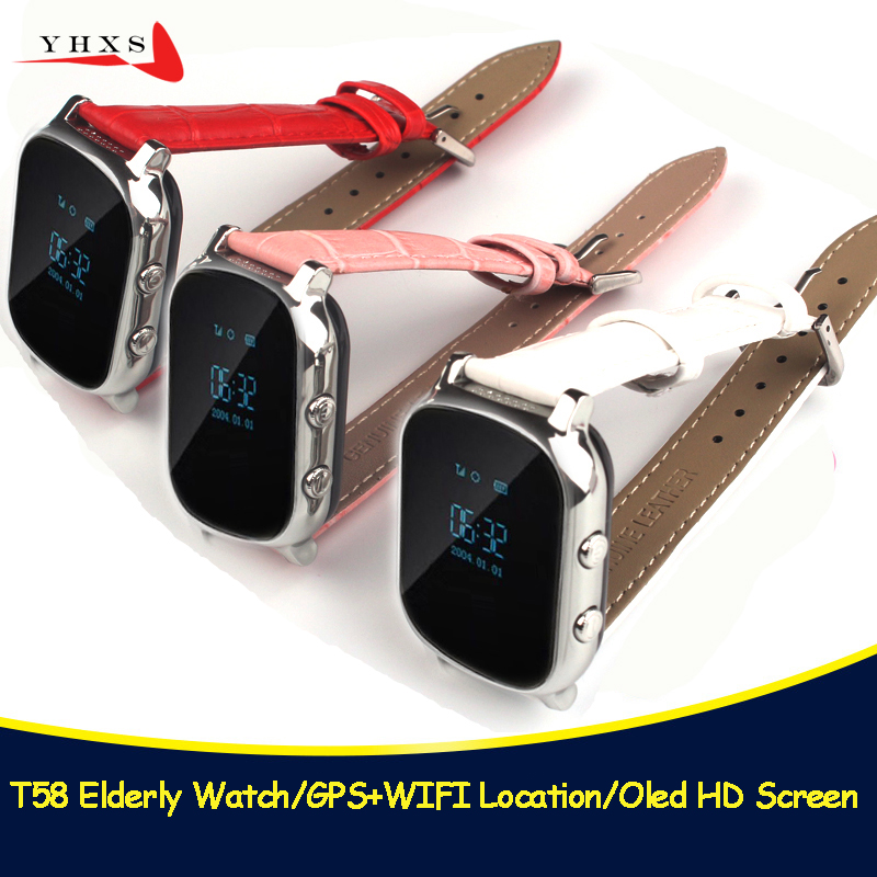 T58 Smart Kids Elder Safe OLED SOS Call GPS WIFI LBS Location Finder Tracker Child Elder Remote Monitor Leather Strap WatchT58 Smart Kids Elder Safe OLED SOS Call GPS WIFI LBS Location Finder Tracker Child Elder Remote Monitor Leather Strap Watch