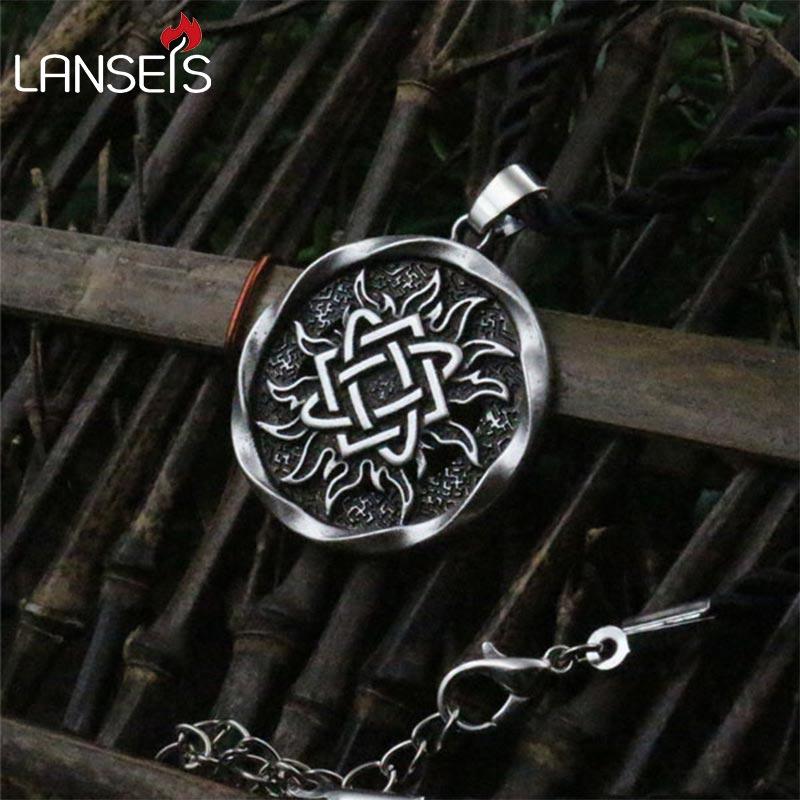 1pcs Lada Star symbol pendant Pagan Slavic Amulet symbol warrior talisman pendant norse Occult Pendant Germanic men necklace