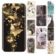 Phone Case For Samsung Galaxy J3 J4 J5 J6 J7 2016 2017 Soft Silicone Cute Cat Painted Back Cover For Samsung J2 J5 J7 Prime Case все цены