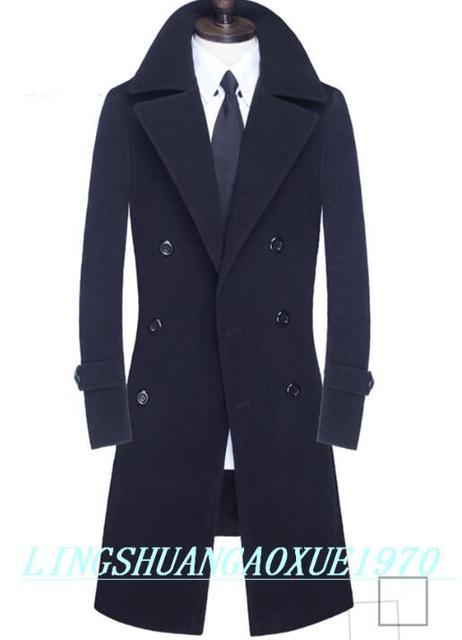 Adolescente doppio petto di lana casuale cappotto da uomo trench affari  mens del cappotto di cachemire 4e61bd5693e