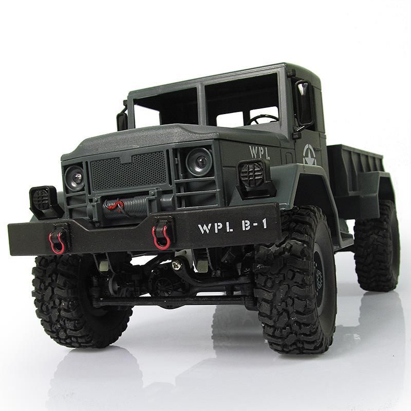 WPL B-1 1:16 RC Military Truck Mini Off-road Car With Light RTR 4WD DIY Car Kit 1/16 RC Toy Gift For Boy Children remote control 1 32 detachable rc trailer truck toy with light and sounds car