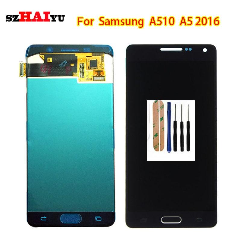 SzHAIyu Super AMOLED Écran lcd + Écran Tactile Pour Samsung Galaxy A5 2016 A510 A510F A510M A510FD A5100 A510Y Écran