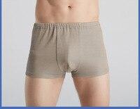 Promo 2 uds Bragas antiradiación masculinas de fibra de plata pantalones cortos protectores para la salud EMF
