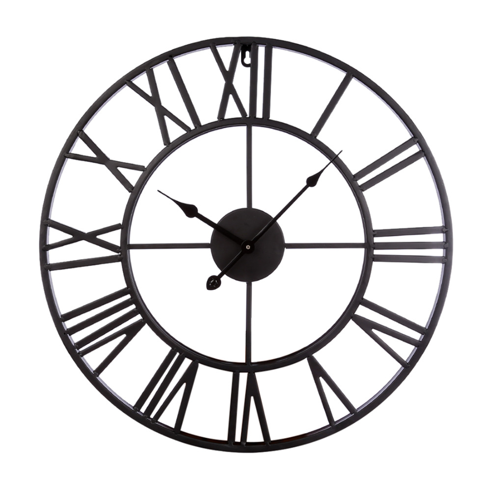 20 Inch Large Wall Clocks For The Living Room Home Decor Vintage Iron Hollowed-Out Hanging Clock Simple Wall Clock