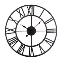 Homingdeco 20 inch large wall clocks for the living room Home Decor vintage Iron Hollowed Out Hanging Clock Simple Wall Clock