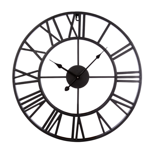 Homingdeco 20 inch large wall clocks for the living room Home Decor vintage Iron Hollowed-Out Hanging Clock Simple Wall Clock