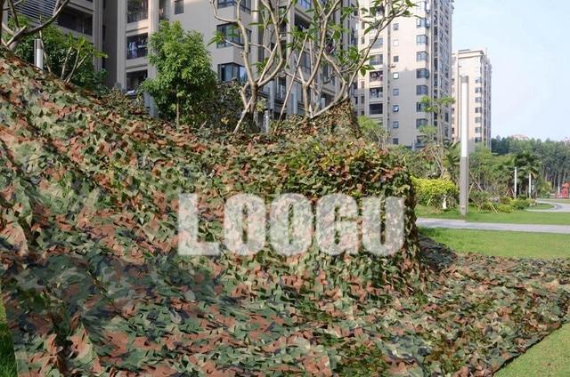 LOOGU EM 3M*5M Woodland Camo Net Army Military Camo Netting Jungle shelter net for Hunting Decoration Camouflage Netting