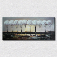Настенные панно деревьев картина маслом для детей спальни украшения красивый пейзаж живопись на холсте для друзей подарок