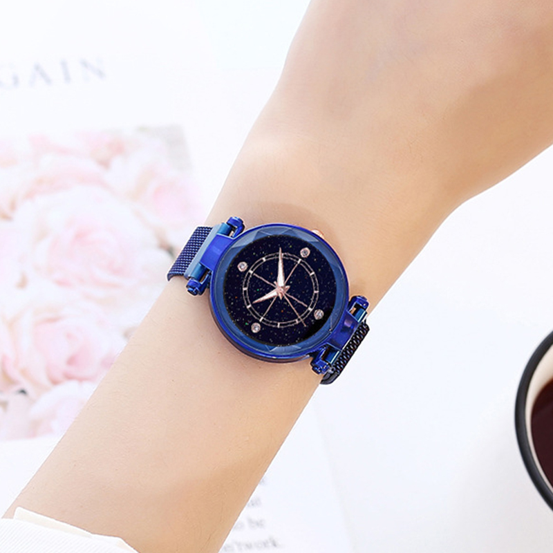 Luxury watches for women starry sky clock with magnetic strap women 39 s wristwatch female watch in rose gold in Women 39 s Watches from Watches