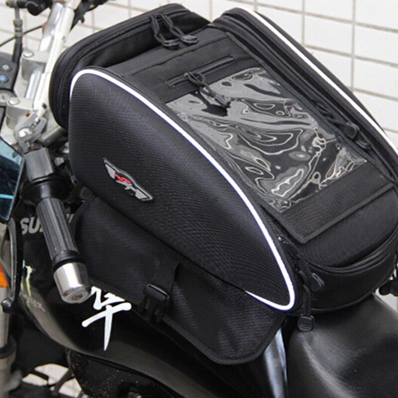 PRO biker sac de réservoir de carburant de moto | Sac de réservoir de carburant de moto, course d'huile magnétique sac de siège arrière de moto étanche et étanche 30L