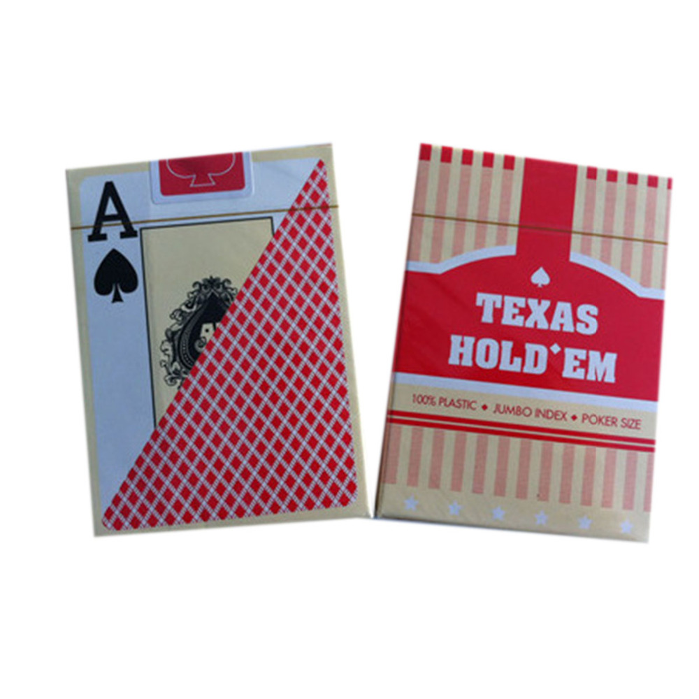 2 Sets/Lot Classic porker card set Texas poker cards Plastic playing cards Waterproof Frost pokerstars Board games Yerneas
