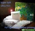 Envío Libre A3 Transmax T-shirt Papel de Transferencia de Color de Luz Super Suave Ultra Fino Papel de Transferencia de Calor 50 unids/lote