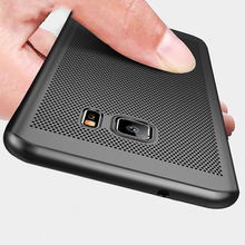 цена на Luxury PC Heat Dissipation Grid Hard Case For Samsung Galaxy S8 S9 Plus S6 S7 Edge Ultra-thin Cases For Note8 9 Simple Cover New
