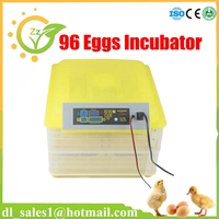 Full Automatic Holding 96 Chicken Eggs Incubator For Sale LED Display Temperature Digital Temperature Control