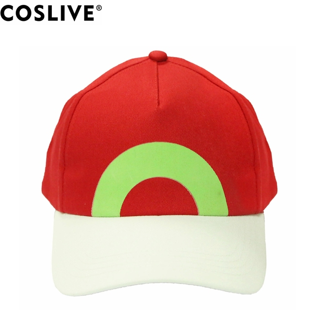 31667585da14d Coslive Pokemon Ash Ketchum Hat Casual Baseball Cap Adult Cosplay Costume  Accessories Halloween Festival Fashion Hats Adjustable